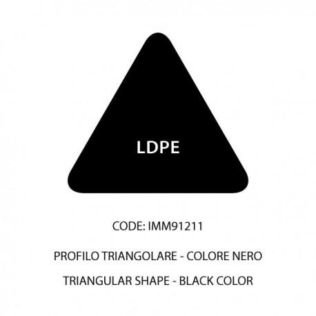 Confezione LDPE barra nera triangolare